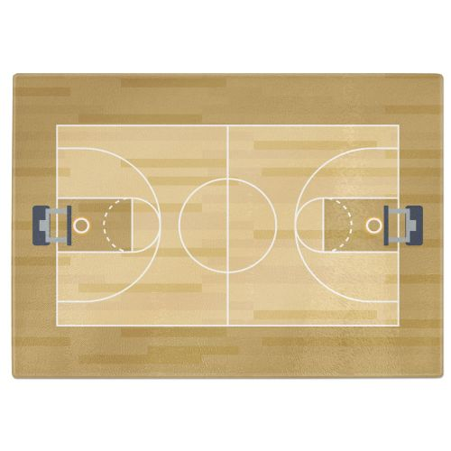 Basketball Court Tempered Glass Chopping Board